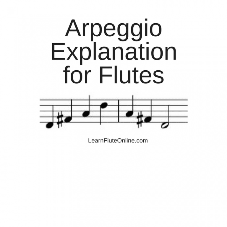 Arpeggio Explanation for Flutes