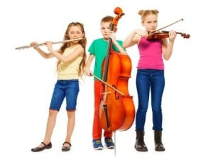 39965554 - children playing on musical instruments together