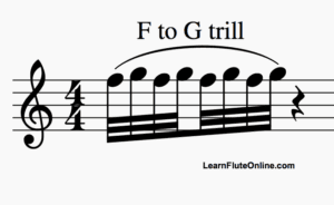 f to g trill how to trill better on flute